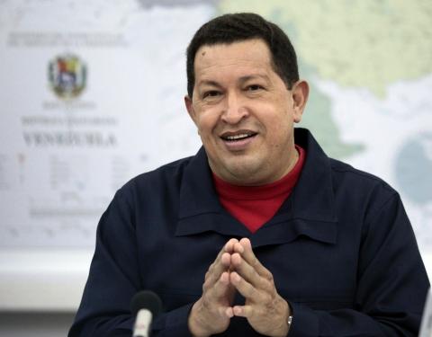 President Hugo Chavez explains the bank nationalizations (ABN)