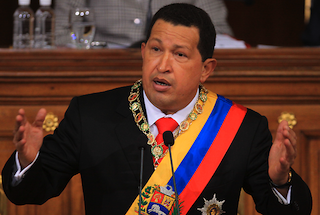 President Hugo Chavez addresses the National Assembly (Prensa Presidencial)