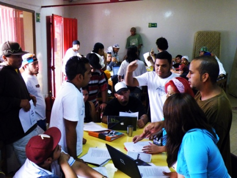 The hip-hop movement congress held in December in Merida, Venezuela (HHR)