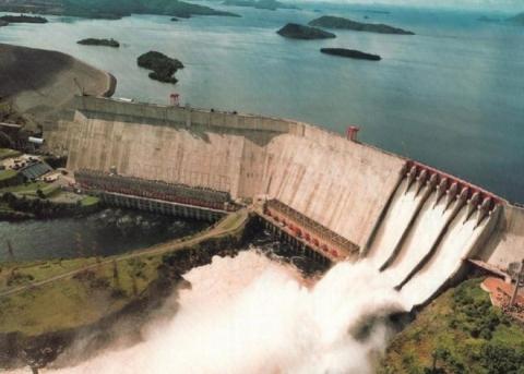The Guri dam in Venezuela's Bolivar state (YVKE)