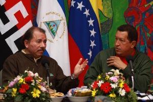 Daniel Ortega, left, and Hugo Chavez (Zurimar Campos, ABN)