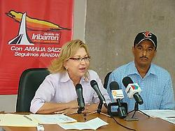 Mayor Amalia Saez (agencies)