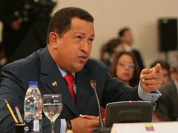 Venezuelan President Hugo Chavez at the UNASUR summit (Prensa MPPRE)