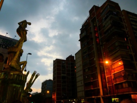Night falls on monument to those killed during the 2002 coup