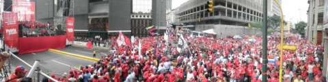 May Day marchers