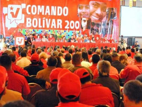 The PSUV election campaign meeting yesterday (PSUV)