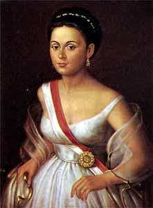 A portrait of Manuela Saenz