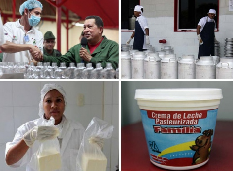 Home-grown dairy products in Venezuela (RNV)