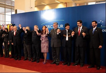 Mercosur participating heads of states and leaders (Prensa Presidencial)