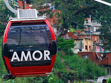 """Love"" written on a metrocable car (RNV)"