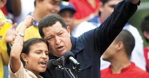 Venezuelan President Hugo Chávez Celebrated Day of the Student at a March in Caracas on Sunday, November 21st, 2010 (Carlos Garcia – Reuters)