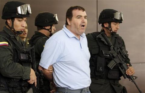 Accused Venezuelan drug trafficker Walid Makled-Garcia (center) after his arrest in Colombia in August, 2010 (Source: Agencies)