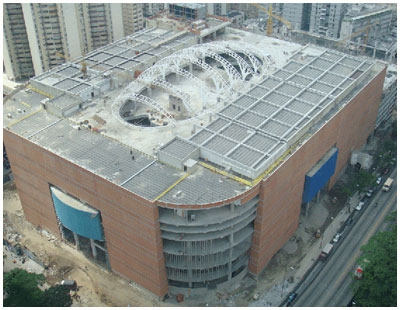 La Candelaria shopping centre, under construction (archive)