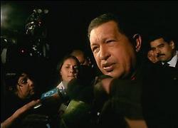 Venezuelan President Hugo Chavez in Quito, Ecuador (VTV)