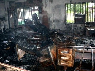 The January 8 arson at INTI's Santa Barbara de Zulia offices destroyed 70% of the land agency's administrative infrastructure (Agencies)