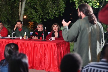 Chavez meeting with the Dwellers' Movement on Saturday (Prensa Presidencial)
