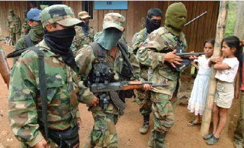Members of the right-wing Colombian paramilitary group Águilas Negras (or Black Eagles), presumed to be ex members of the now demobilized United Self-Defenses of Colombia (AUC) (Archive)