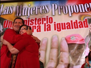 The creation of the Women's and Gender Equality Ministry in 2009 has been held up by many as one of the principal gains for women during the Chavez period (archive).