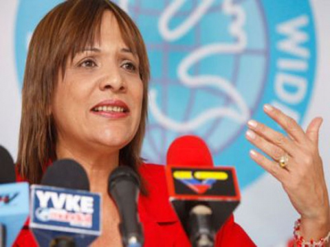 Venezuelan Minister of Women's Affairs and Gender Equality, Nancy Perez (Archive).
