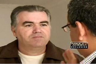 """Accused Venezuelan drug trafficker, Walid Makled, being interviewed on """"Aqui y Ahora"""" as he awaits extradition to either Venezuela or the United States (Univision)."""