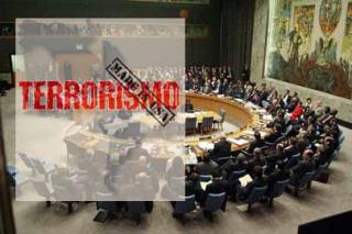 "A graphic of the UN Security Council, suggesting that terrorism is ""made in the USA"" (VTV)."