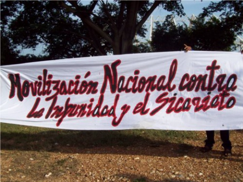 Venezuela's National Campesino Front Ezequiel Zamora (FNCEZ) is organizing a national mobilization against impunity to protest the ongoing killing of rural land activists (Photo: FNCEZ).