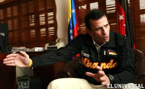 Henrique Capriles Radonski announces his candidacy for opposition primaries (El Universal).
