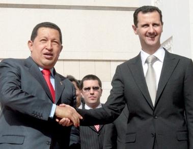 President Chávez with Syrian President Bashar Al Assad (Correo del Orinoco)