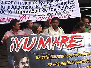 Citizens in Yumare protest against impunity for those responsible for the massacre (Patria Grande)