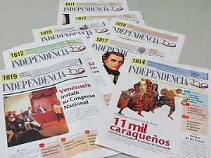 Copies of Independence 200 will be distributed daily in 25 national and regional newspapers (RadiodelSUR).