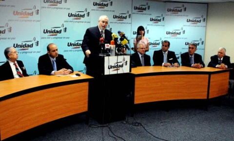Venezuela's principal opposition coalition, the Democratic Unity Roundtable (Photo: Archive).
