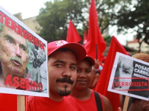 Social movements march in the capital to demand extradition of Posada Carriles and the release of the Cuban Five (AVN)