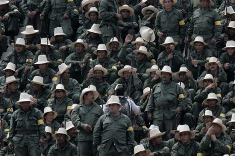 Members of the Bolivarian National Militia (Photo: Archive).