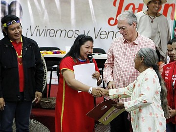 The Venezuelan government donated 22 million Bolivars (US$5.1 million) to indigenous communities in the Amazon (RNV).