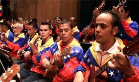 Members of the Venezuelan Prison Orchestra performing live on national television (Agencies)