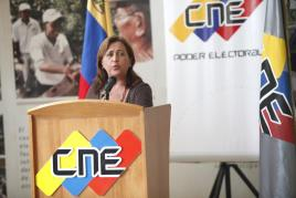 The president of the National Electoral Council (CNE) Tibisay Lucena (AVN)