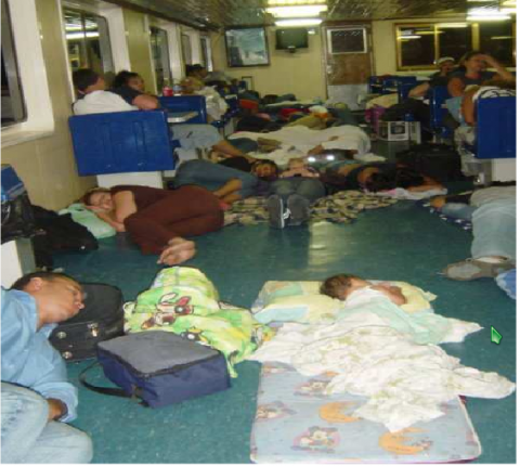 Travelling on Conferry ferries was not a comfortable experience (agencies).
