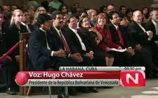 Ecumenical gathering to pray for the health of Venezuelan President Hugo Chavez held  on 21 September 2011 (Agencies).