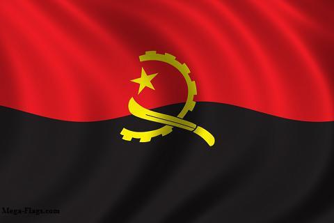 The flag of Angola (Mega-flags.com).
