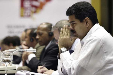Venezuelan Foreign Minister Nicolas Maduro during the recent UNASUR summit in which the regional organization consolidated its Defense Council (Agencies).