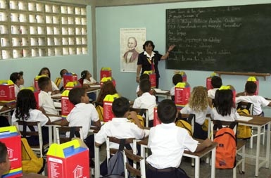 Primary schools went back to school last week (radionoticias Venezuela)