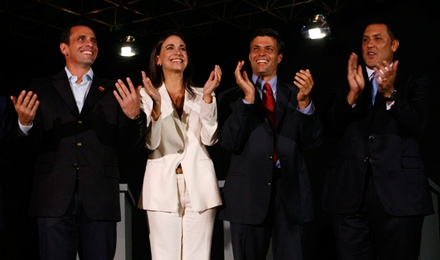 """The prospective opposition presidential candidates """"debated"""" on Monday. (Reuters/archive)."""