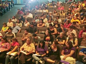 A GPP regional assembly in Merida on Monday (Tamara Pearson/Venezuelanalysis.com)