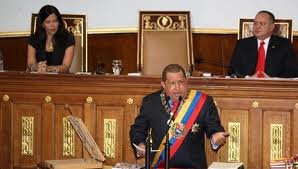 """Chavez urged the Venezuelan National Assembly to reform the country's penal code in order to create a new """"social state of law and justice"""" (Radiodelsur)"""