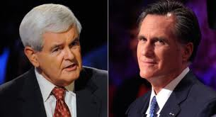 Reoublican candidates Newt Gingrich and Mitt Romney (dcdecoder)