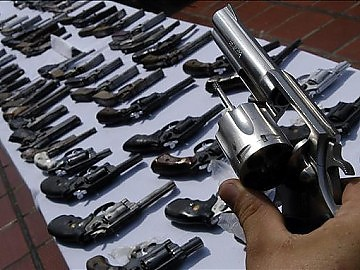 Gun imports will be suspended for one year (archive).