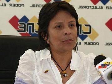 CNE director Sandra Oblitas (archive).