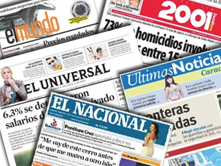 "Anti-Chavez Venezuelan media quickly latched onto the Western media line about a state campaign of ""persecution"" against opposition candidate Henrique Capriles Radonski (archive)."