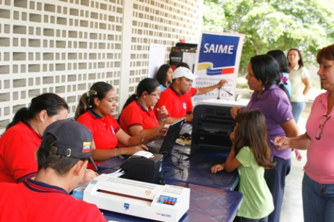 A portable SAIME help point in Caracas (archive)