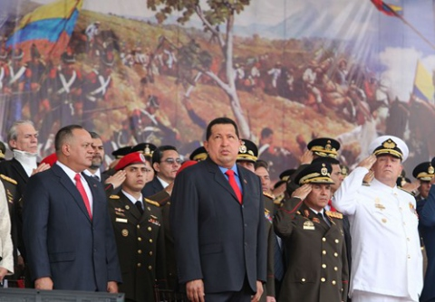 "Venezuela President Hugo Chavez declared Sunday that Fernando Lugo's dismissal as Paraguayan president was a ""state coup"". (AVN)"